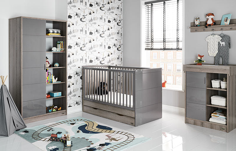 Obaby Madrid Double Wardrobe - Eclipse