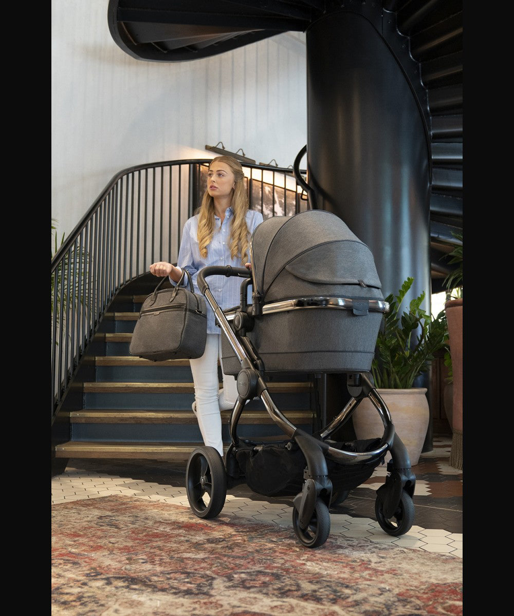 Peach Pushchair and Carrycot - Phantom Dark Grey Twill