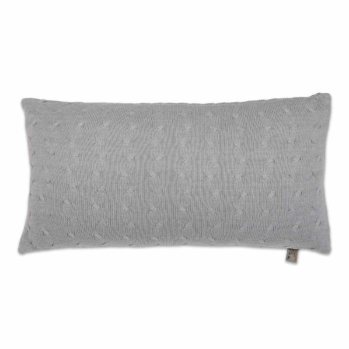 Baby's Only Cushion 60x30cm - Cable Grey