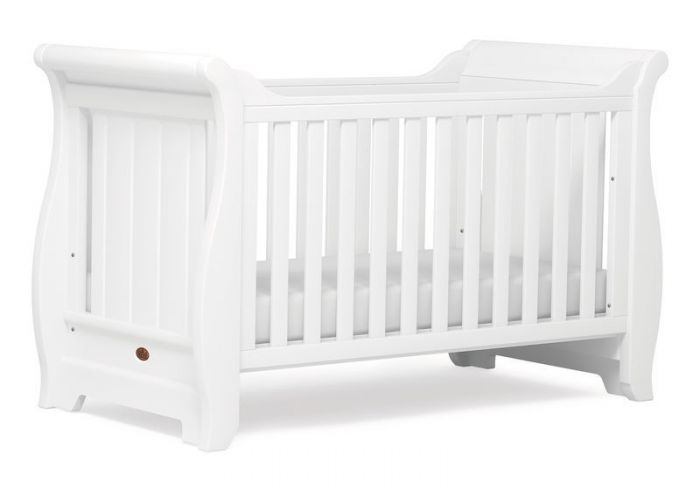 Boori Sleigh White 3 Piece Cot Bed Set