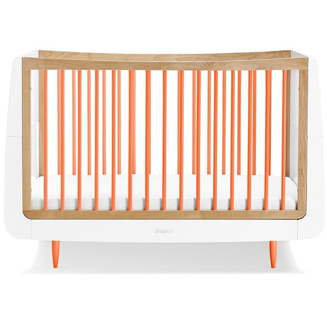 SnuzKot Skandi 2 Piece Nursery Furniture Set - Orange