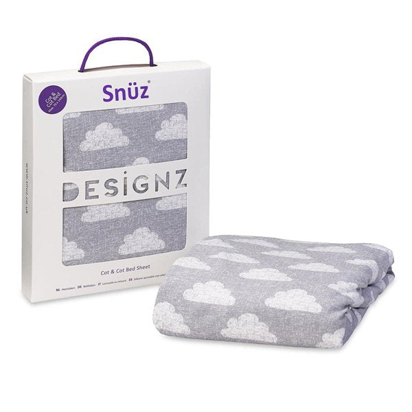 Snuz Cot & Cot Bed Fitted Sheet – Cloud Nine