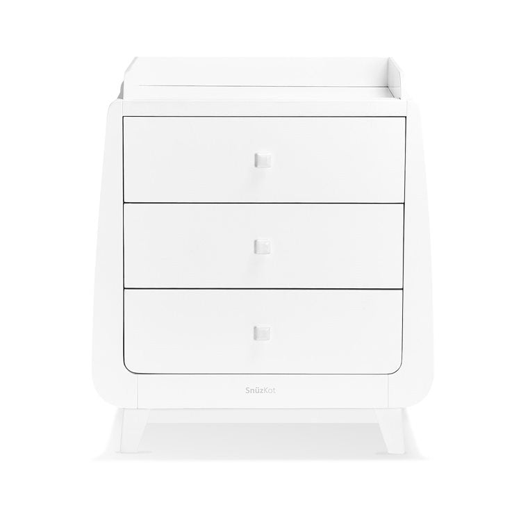 SnuzKot Luxe 2 Piece Nursery Furniture Set - White