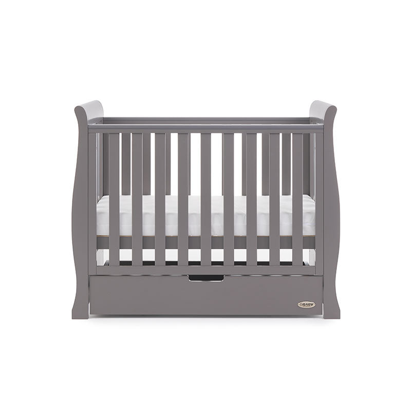 Obaby Stamford Space Saver Sleigh Cot - Taupe Grey