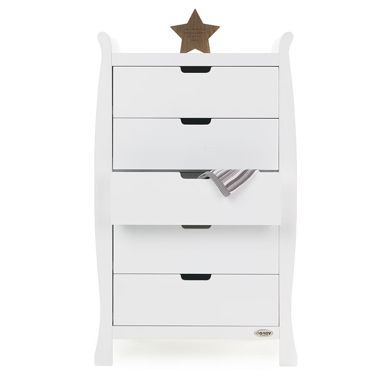 Obaby Stamford Tall Chest of Drawers - White