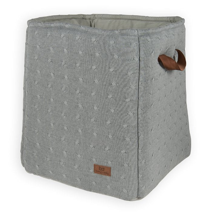 Baby's Only Storage Basket - Cable Grey