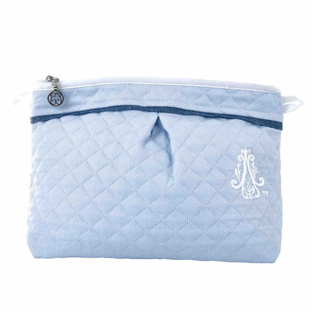 Theophile & Patachou Toilet Bag - Quilted Indigo