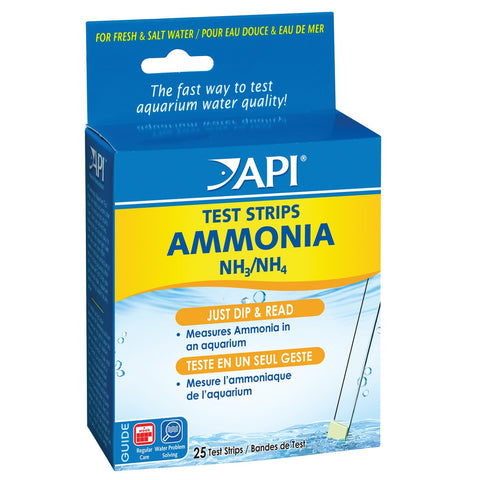 API Ammonia Aquarium Test Strips - 25 pk