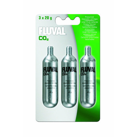 Fluval 20g CO2 Cartridge 3pk Filter Media
