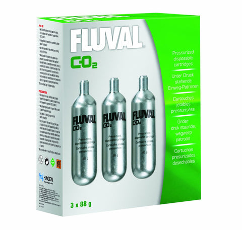 Fluval Disposable 88g CO2 Cartridge- 3 PACK