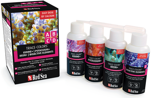 Red Sea Coral Colors ABCD 4 supplement pack (4x100ml)