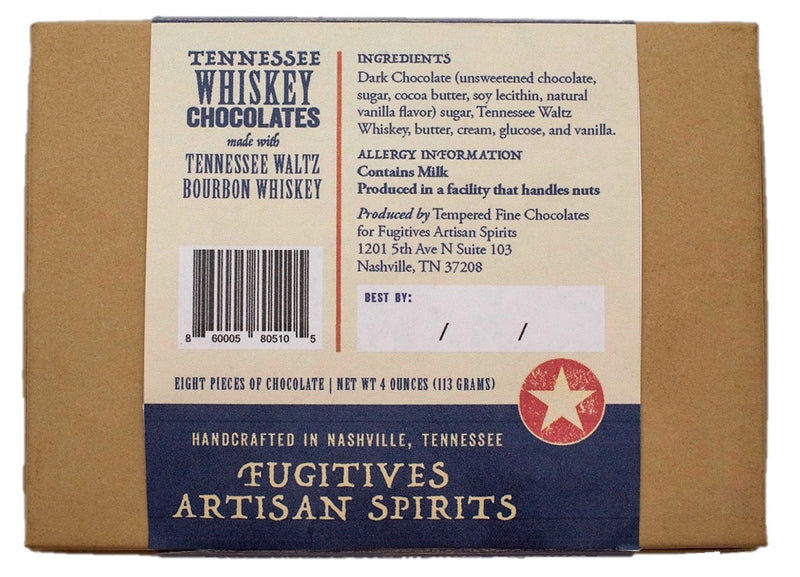Tennessee Waltz Whiskey Chocolates 8 Pack