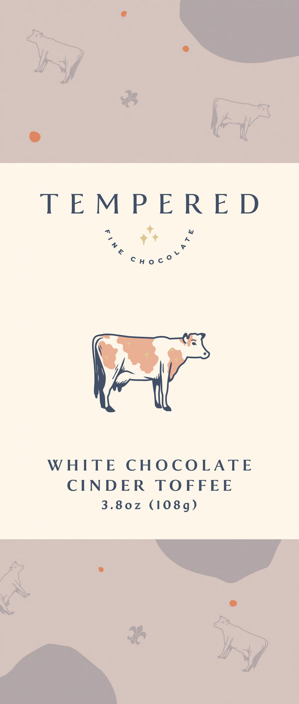White Chocolate Cinder Toffee Bar