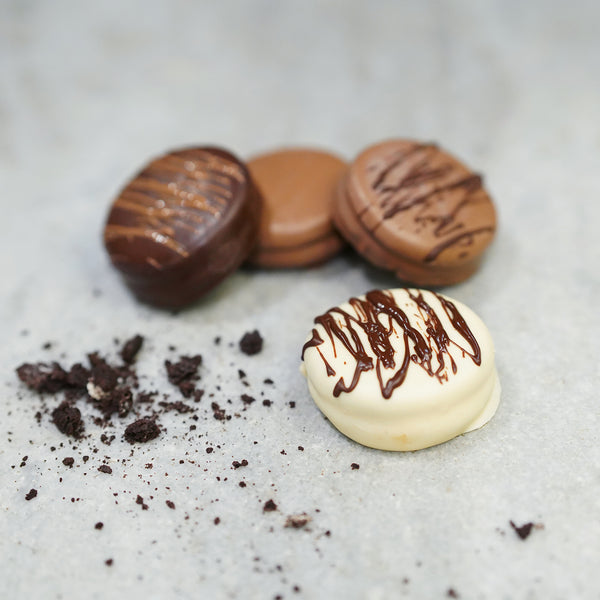 Chocolate Dipped Sandwich Cookie Four Pack