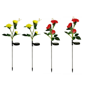 LAST DAY 50% OFF- SPRING ARTIFICIAL ROSE SOLAR GARDEN STAKE LIGHTS