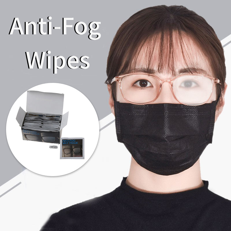 50Pcs/set Anti-Fog Wipes Packeted Individually for Glasses