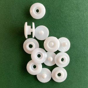 DIY White Round Plastic Snap Fasteners Press Studs