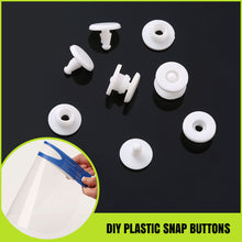 Load image into Gallery viewer, DIY White Round Plastic Snap Fasteners Press Studs