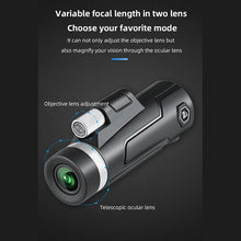 Load image into Gallery viewer, 2021 High Definition Monocular Telescope and Quick Phone Holder