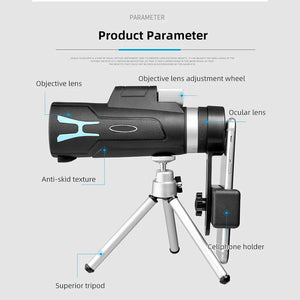 2021 High Definition Monocular Telescope and Quick Phone Holder