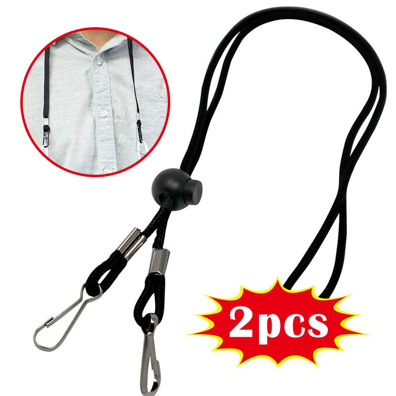 2/5 Pack Adjustable Length Face Shield Lanyard