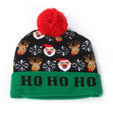 Load image into Gallery viewer, Christmas LED Knitted Hat with Colorful Lights for Adults and Children