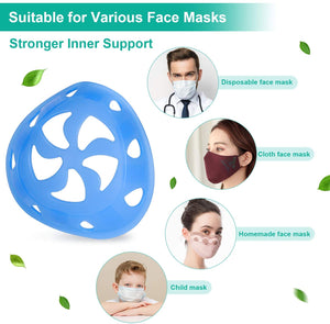 3D Softer Silicone Face Mask Bracket For More Breathing Space