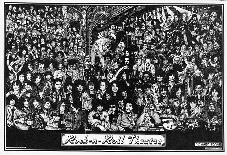 Rock N Roll Theater - Art Poster