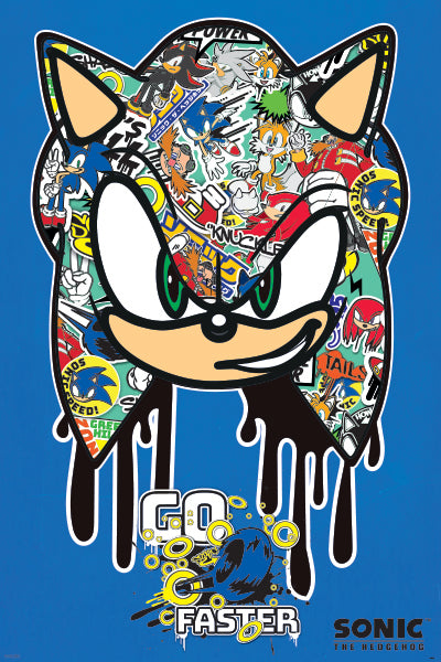 Sonic The Hedgehog - Go Faster Graffiti