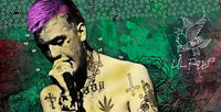 Lil Peep Green Background