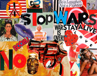 Red Collage Stop Wars