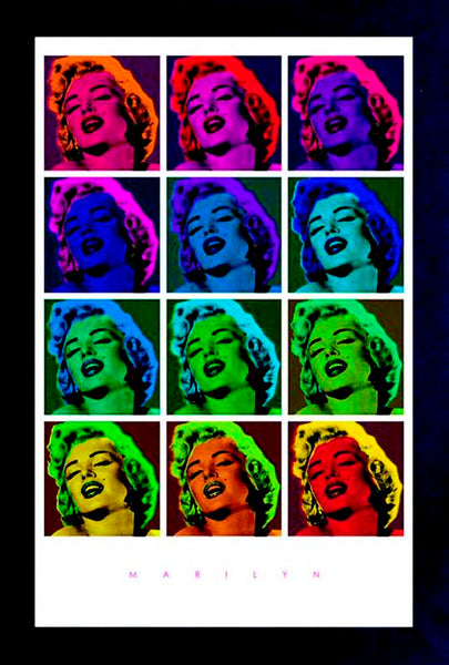 Marilyn Monroe Pop Art Square Framed Gelcoat