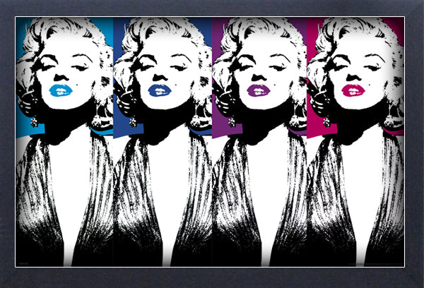 Marilyn Monroe Color Lips Framed Gelcoat