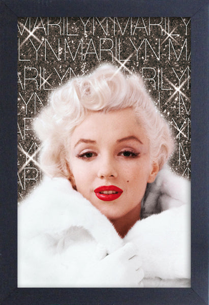 Marilyn Monroe White Coat Framed Gelcoat