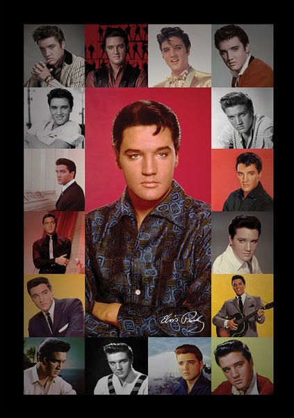 Elvis - Portrait Composite Framed Gelcoat