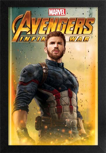 Avengers IW Captain America Framed Gelcoat