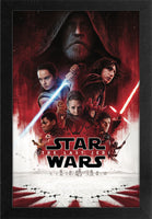 Star Wars - TLJ One Sheet Framed Gelcoat