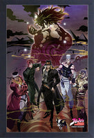 JoJo's Bizarre Adventure Gro Cover Framed Gelcoat