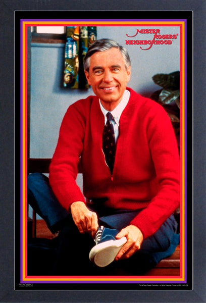 Mr. Rogers' Neighborhood - Tying Shoes Framed Gelcoat
