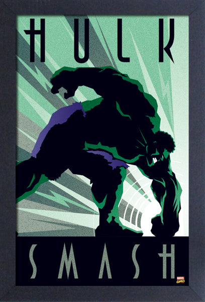 Hulk Art Deco Framed Gelcoat