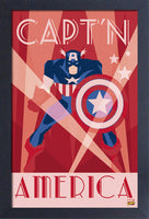 Captain America Art Deco Framed Gelcoat