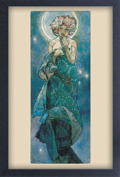 Alphonse Mucha Moon Framed Gelcoat