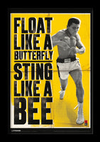 Ali - Float Like a Butterfly Framed Gelcoat