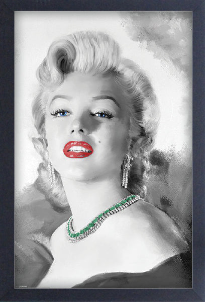 Marilyn Monroe - Diamonds are Forever Framed Gelcoat