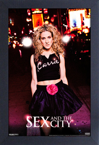 Sex and The City - Carrie in T Shirt Framed Gelcoat