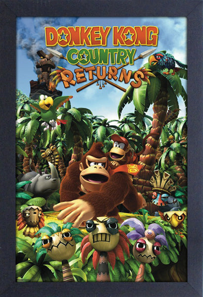 Donkey Kong Country Framed Gelcoat