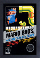 Super Mario Bros Arcade Framed Gelcoat