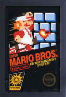Super Mario Bros Cover Framed Gelcoat