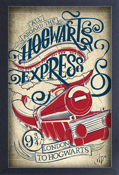 Harry Potter - Hogwart's Express Framed Gelcoat