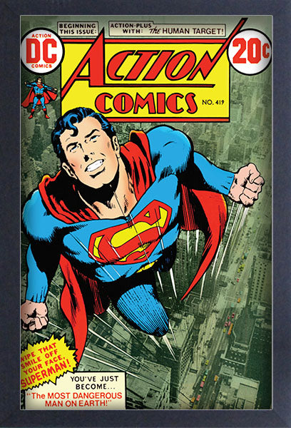 Superman Action Comics #41 Framed Gelcoat